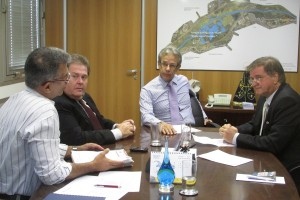 Reunião na Secretaria de Saneamento e Recursos Hídricos