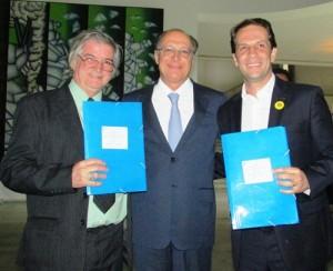 Superintendente Cabral, governador Geraldo Alckmin e o prefeito Rodrigo Proença