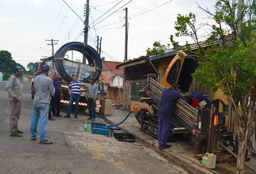 Troca de rede na Vila Izildinha
