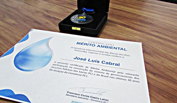 "Capivari recebe certificado de ""Mérito Ambiental"" concedido pelo Consórcio PCJ"