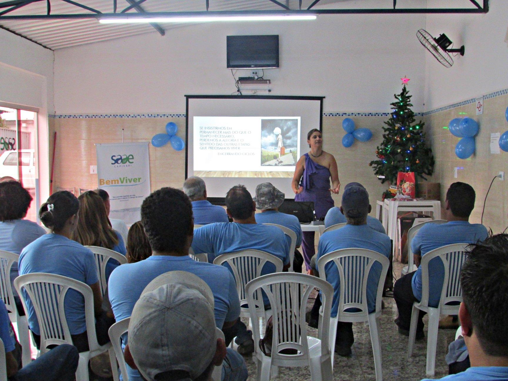"""SAAE realiza última palestra do projeto """"Bem Viver"""" que promove atividades focadas no bem-estar do servidor"""